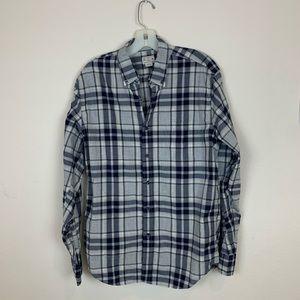 J. Crew Plaid Long Sleeve Button Down Shirt Gray